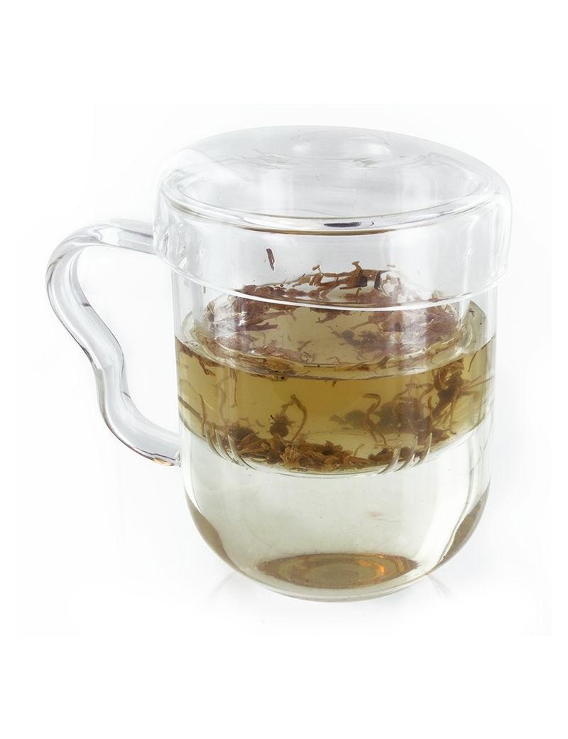 Mug filltre et couvercle en verre 300ml - Aromandise