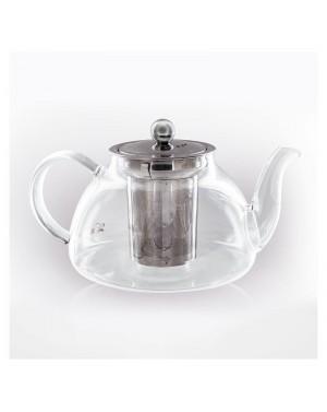 Théière en verre filtre inox 0,8L - Aromandise
