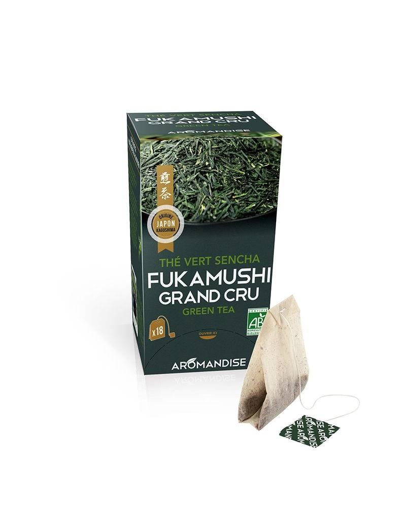 Thé bio Fukamushi Sencha en infusettes - Aromandise