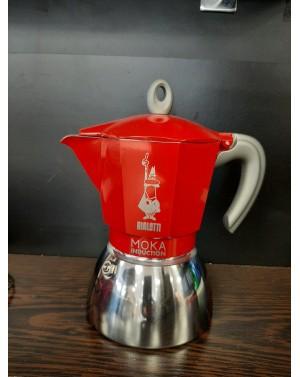 Cafetière à l'italienne Moka induction rouge 6 tasses - Bialetti