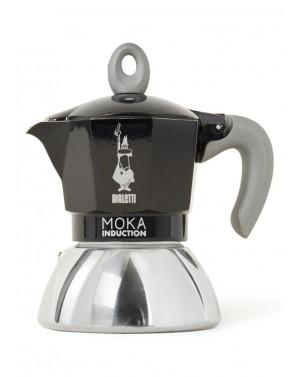 Cafetière à l'italienne Moka induction noir 6 tasses - Bialetti