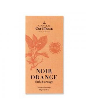 Tablette de chocolat noir orange - Café Tasse 85 grs