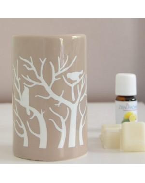 Brûle parfum Treebee gris -...