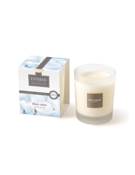 Bougie parfumée Blanc coton - Esteban