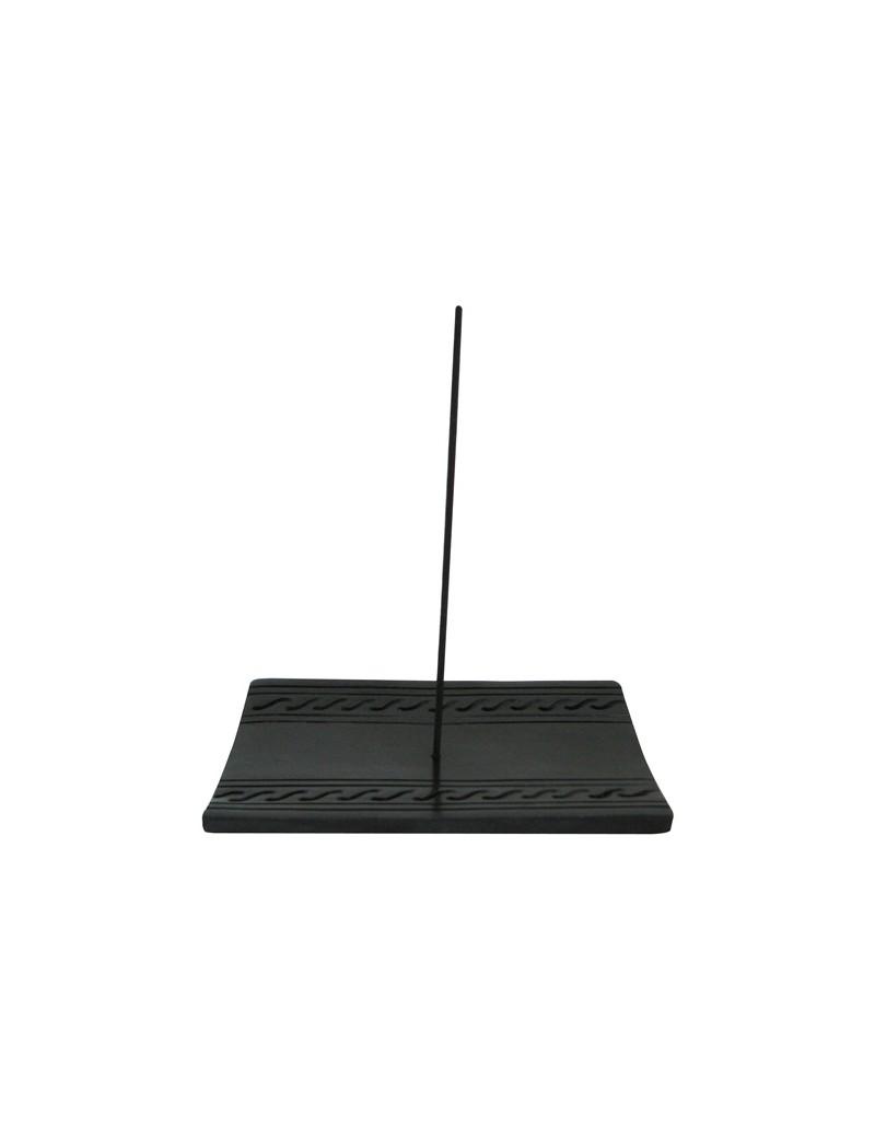 Porte encens en pierre noire