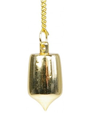 Pendule cylindrique doré