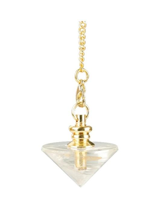 Pendule cône en cristal de roche