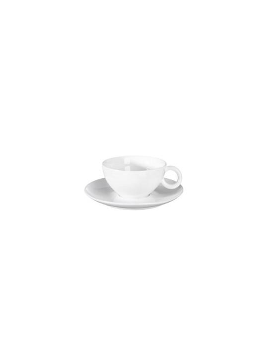 Tasse et soucoupe en porcelaine blanche - Asa