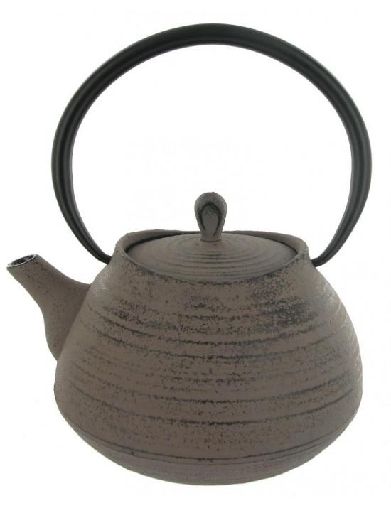 Théière en fonte Tea pot 1L gris taupe