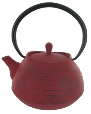 Théière en fonte Tea pot 1L rouge