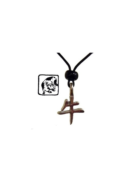 Collier horoscope chinois - signe du Bœuf