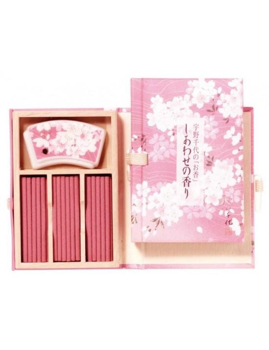 Coffret d'encens + support Fleur de cerisier - Nippon Koddo