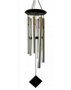 Carillon Pluton argenté 68cm - Woodstck Chimes