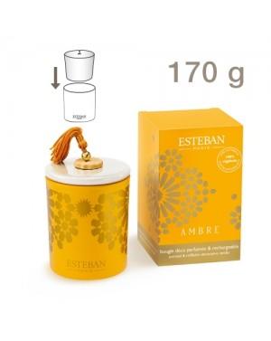 Bougie déco rechargeable Ambre - Esteban