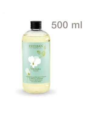 Recharge pour bouquet parfumé Orchidée blanche 500ml - Esteban