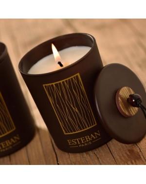 Bougie déco parfumée rechargeable Cèdre - Esteban