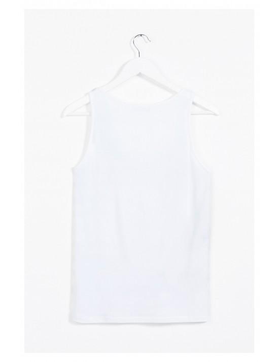 Tee-shirt bretelles Blue summer Taille L/XL - Desigual
