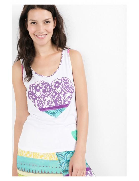 Tee-shirt bretelles Botanical dream Taille S/M - Desigual
