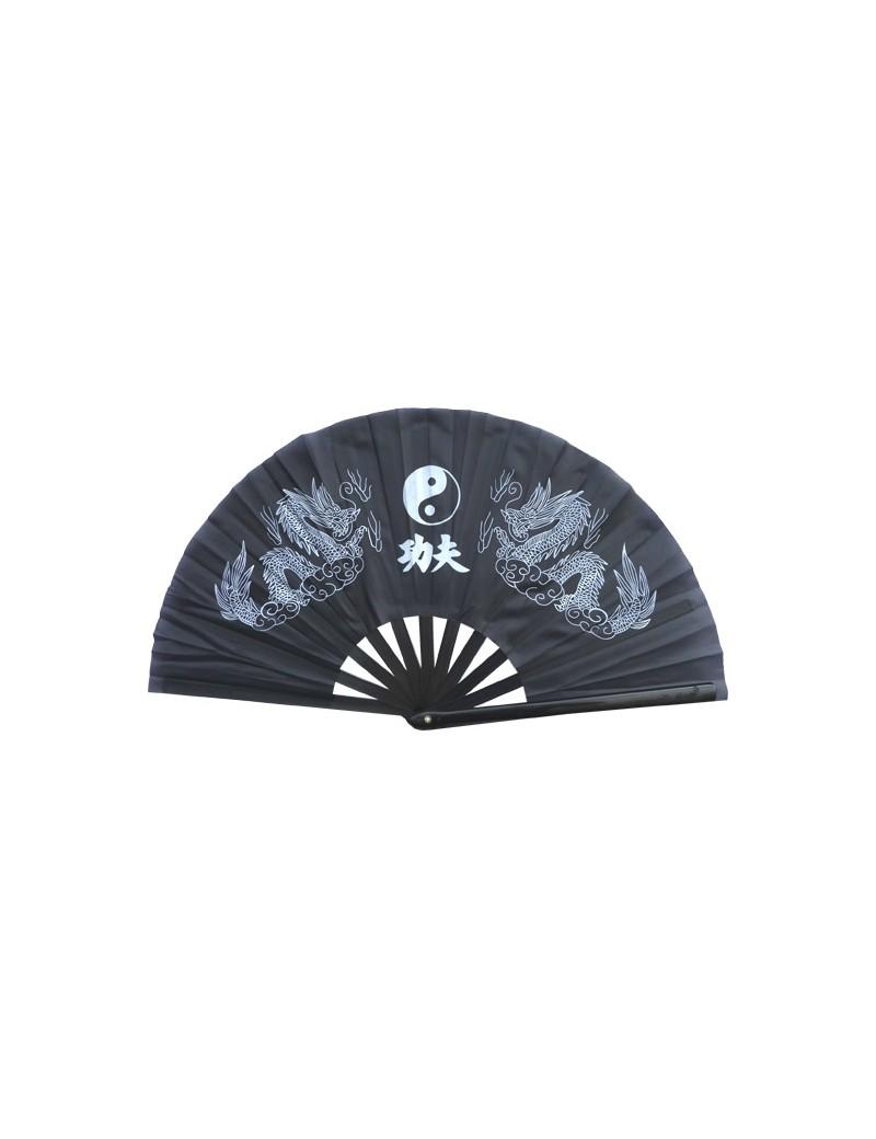 Eventail Tai-Chi ying-yang dragon