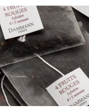 Thé noir 4 fruits rouges en sachet emballé - Dammann frères