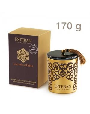Bougie déco parfumée rechargeable Légende d'orient - Esteban
