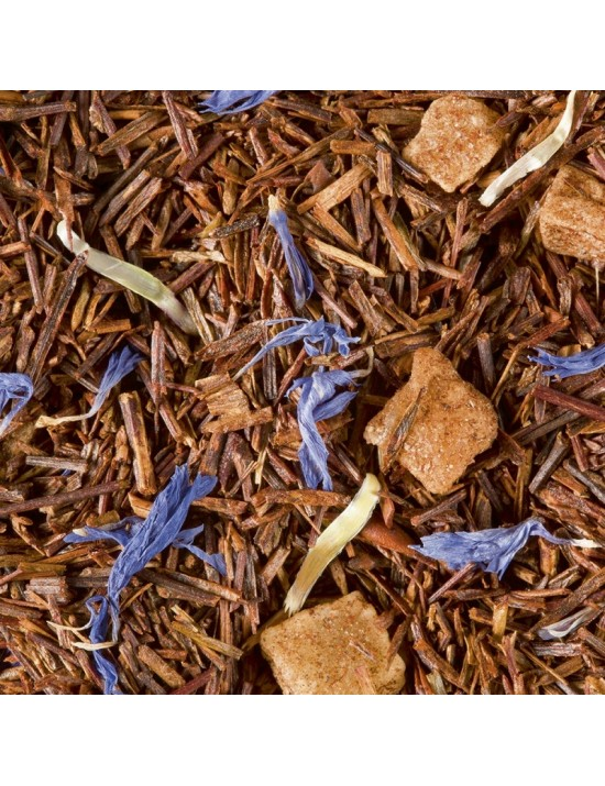 Thé rouge Rooibos Rhubarbe coco - Dammann frères