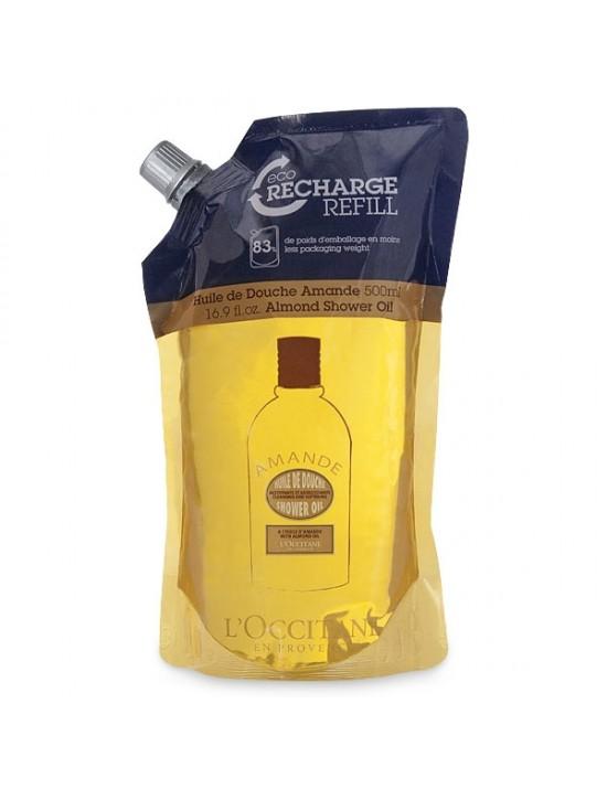 Eco-recharge huile de douche Amande 500ml - L'Occitane