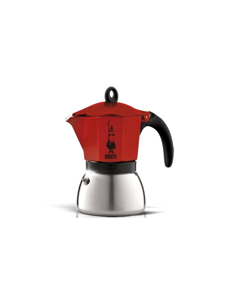 Cafetière italienne induction rouge 6 tasses - Bialetti