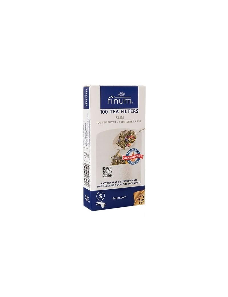 Filtre à thé papier S (boite de 100) - Finum