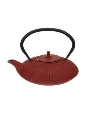Théière en fonte umbrella rouge 0,8L