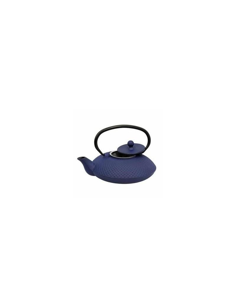 Théière en fonte Nara bleue 0,8L