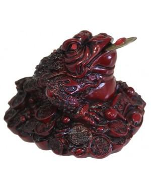 Grenouille en résine rouge