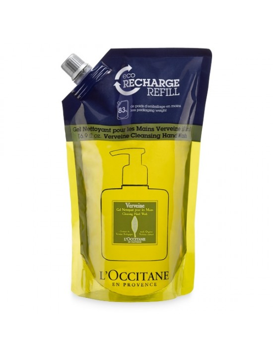 Eco-recharge gel nettoyant mains Verveine 500ml - L'Occitane