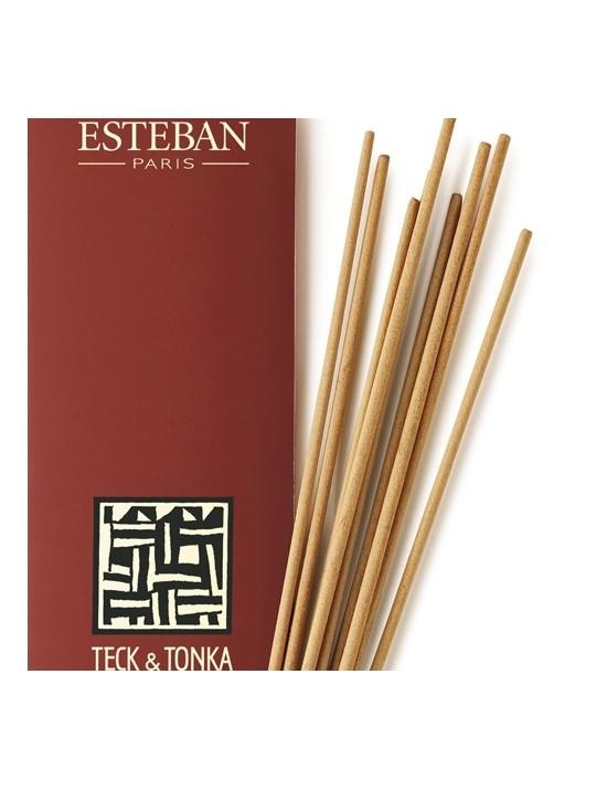 Encens indien parfumé Teck et Tonka - Esteban