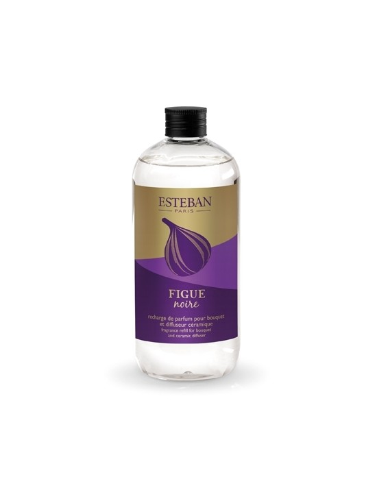 Recharge pour bouquet parfumé 500ml Figue noire - Esteban