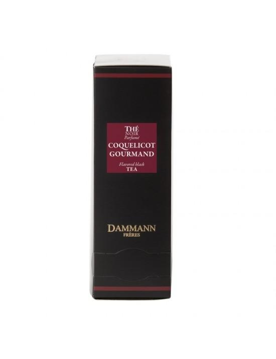 Thé noir coquelicot gourmand en sachet emballé - Dammann frères