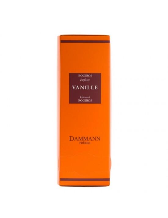 Thé rouge Rooibos vanille en sachet emballé - Dammann frères