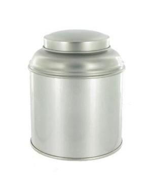 Boite à thé dôme argent