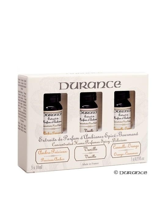 Trio de concentré de parfum (Ambre/Vanille/Cannelle-Orange - Durance