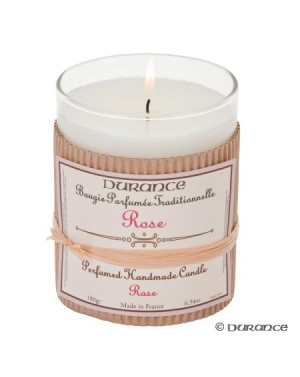 Bougie parfumée traditionnelle à la Rose - Durance