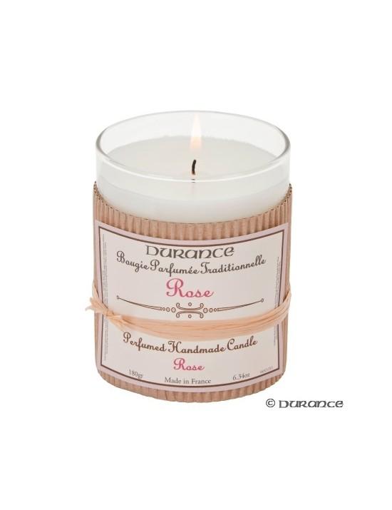 Bougie parfumée artisanale à la Rose - Durance