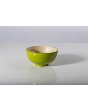 Bol laqué olive d10xh5cm - Bibol