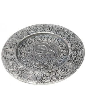 Brule encens assiette plate alu - Om