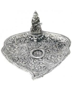 Brule encens alu feuille 3 pieds - Bouddha