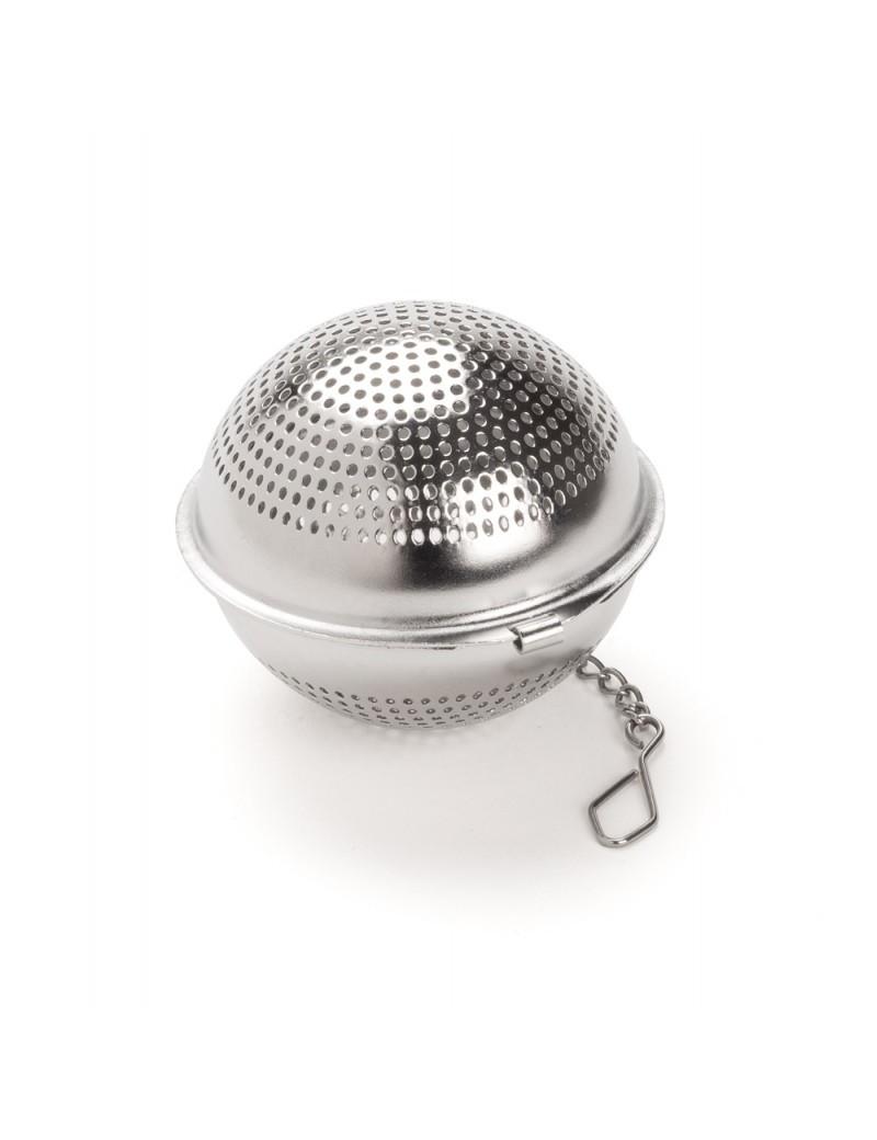 Boule à thé ronde inox perforé - Dammann frères