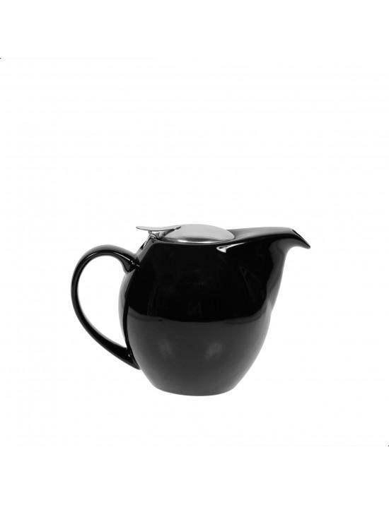 Théière boule en céramique 1L noir