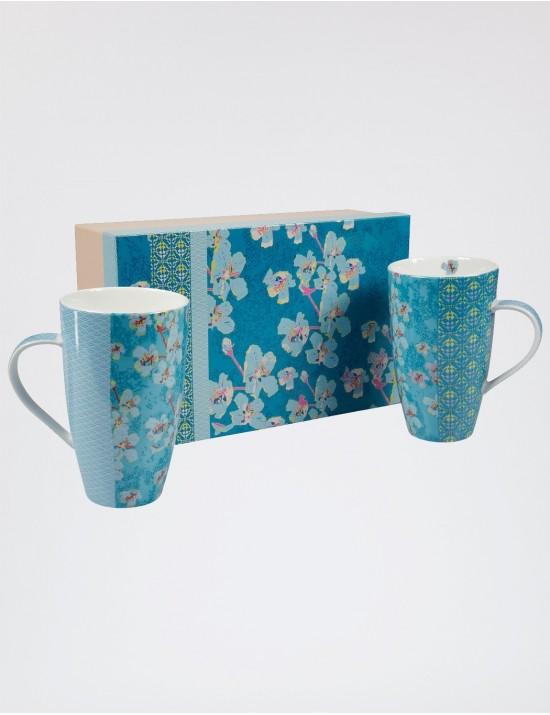 Coffret de 2 mug XXL en porcelaine La fiancée du Mékong