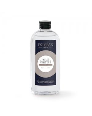 Recharge pour bouquet parfumé Bois de cashmere  et  Ambre gris - Esteban
