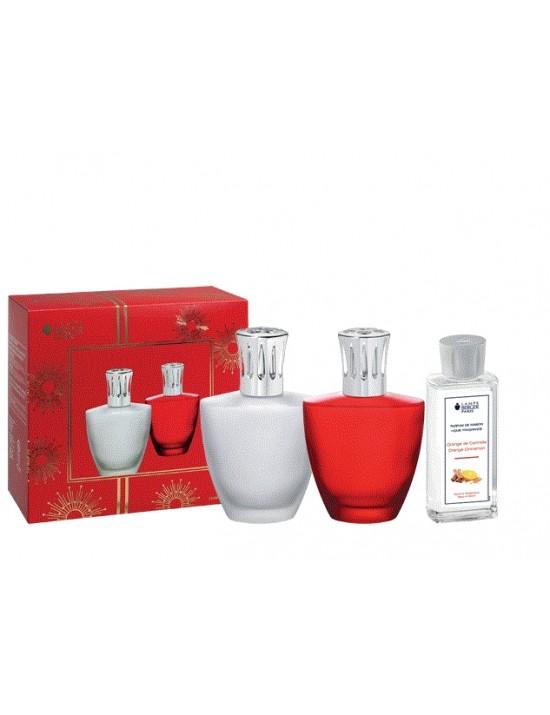 Coffret Lampe Berger Satin givré + parfum 180ml