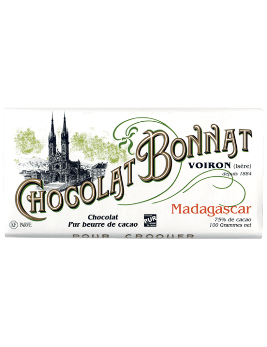 Tablette de chocolat Madagascar 100gr - Bonnat